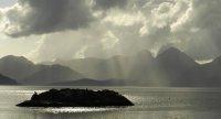 Sun Sparkled Island Seascape