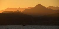 Desert Foothills in Dawn Mist