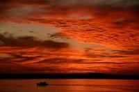 Fiery Dawn Over Isla San Jose
