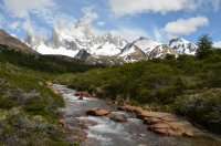 Rio Del Salto and The Fitz Roy Range