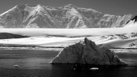 Iceberg and Mountain Landscape