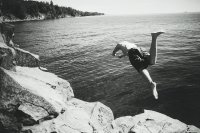 Diving into beautiful Lake Superior