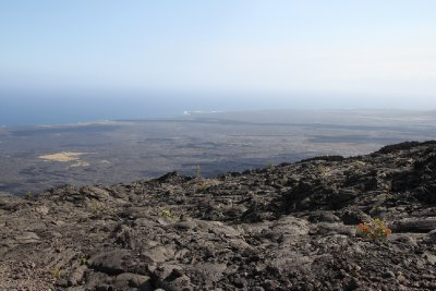 old lava flow to the coast