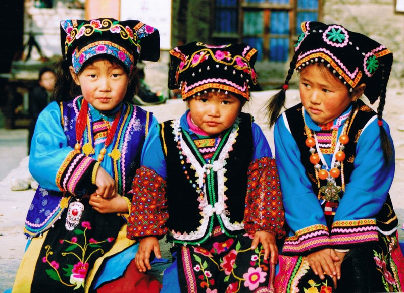 Children dressed for wedding