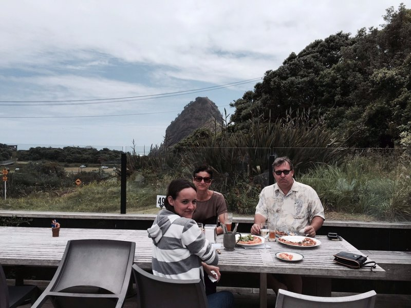 Lunch at Piha Beach