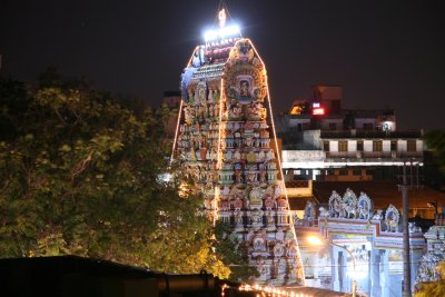 Temple by night