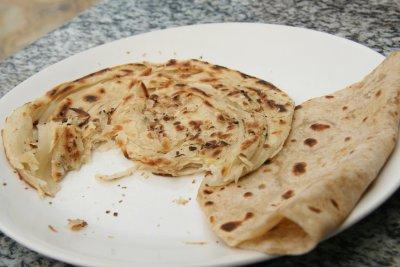 South indian paratha - delicious!