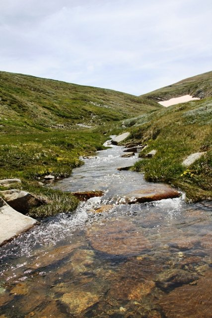 Snow melt river
