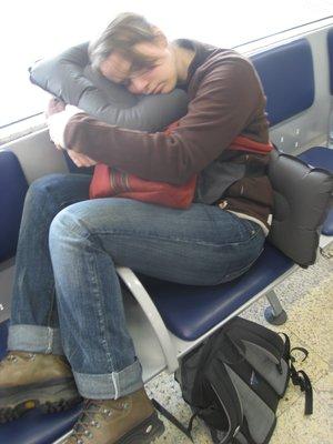 Slapen op de luchthaven