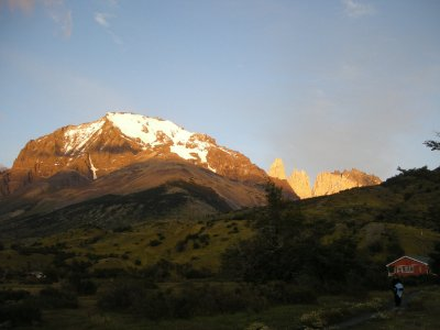 The Torres from the Refugio in the morning - Torres del Paine Nat Park