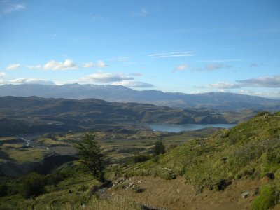 View back to the start - Torres del Paine Nat Park