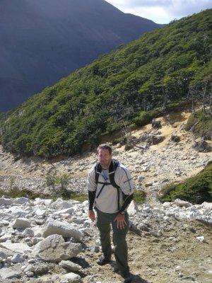Seth mid-walk - Torres del Paine Nat Park