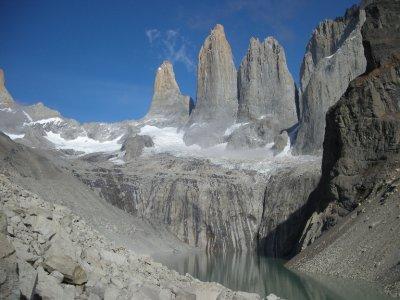 Torres plus reflection - Torres del Paine Nat Park