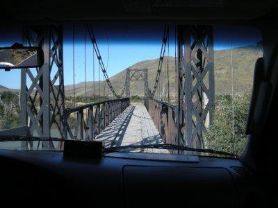 Skinny little bridge - Torres del Paine Nat Park