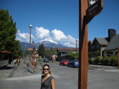 Pucon, view of Villarica Volcano