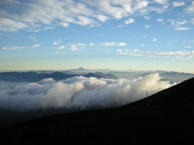 Above the clouds on Villarica Volcano, Pucon