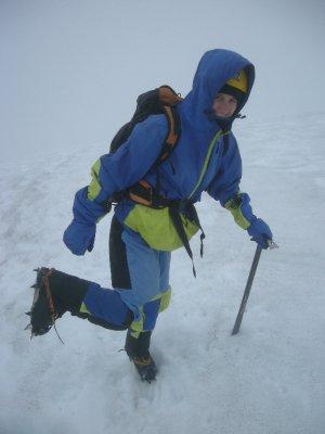 Snow, crampons, ice pick - Villarica Volcano, Pucon