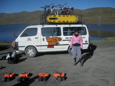 Death Road - the start at 4900m