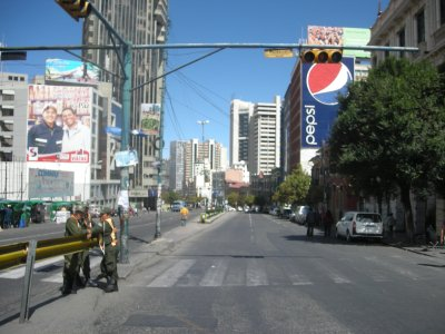 La Paz - election day - weird with no cars