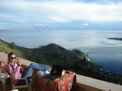 Enjoying the view - Isla del Sol