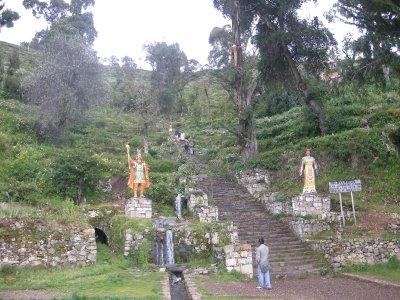 The Incan steps - killers! - Isla del Sol