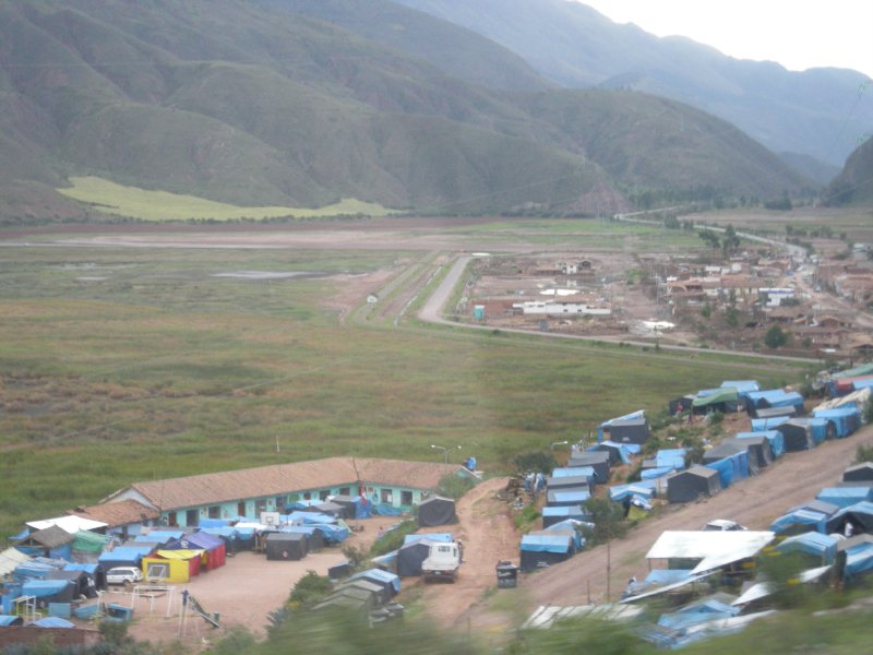 Tent city, on the road into Cusco