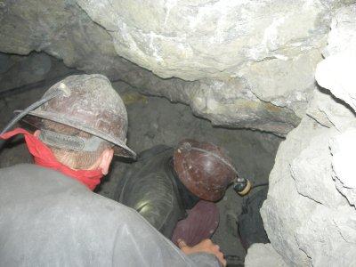 Potosi - Mine Tour - scrambling through