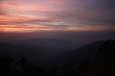 Pink sunset mae hong son