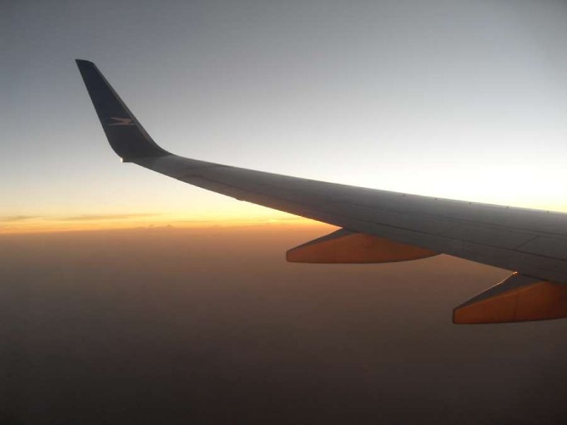 Its a plane wing with some cool stuff behind it