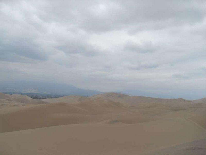 Pure desert, rubbish sky