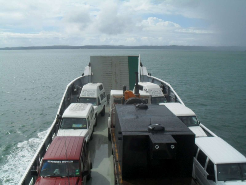 On our way to Fraser Island
