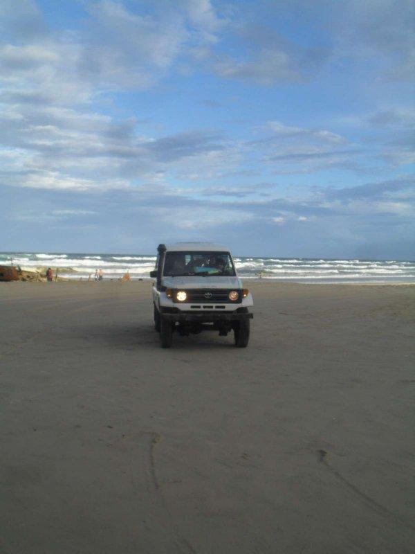 On the road/beach again