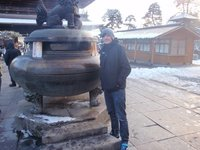me at Zenkoji Temple incense burner
