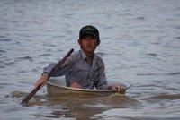 Sunset on Tonle Sap lake - Homebound Boy