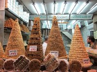 Pyramids of stick sweets