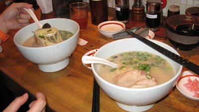 Two bowls of ramen