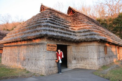 One of their living huts