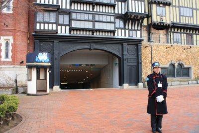 Car Park Entrance with the guard