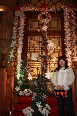At the Staircase of Ishiya Chocolate Factory
