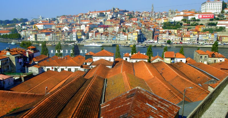 Looking over the roofs of the Port houses