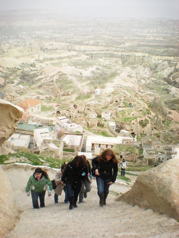 Castle ascent, Cappadocia