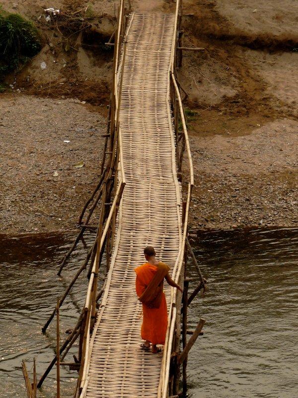 Monk Crossing Nam Ou