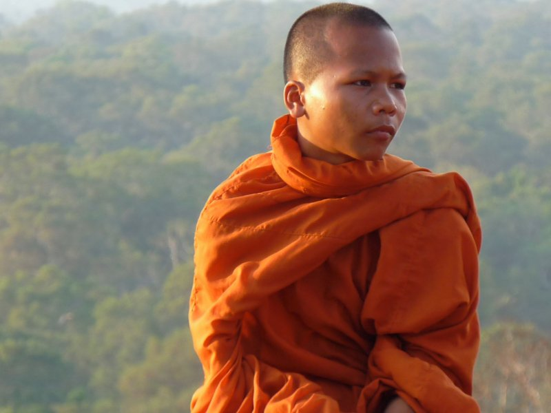 Monk Taking in The View