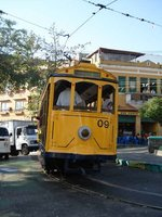 Clapped out old tram in Santa Theresa, Rio