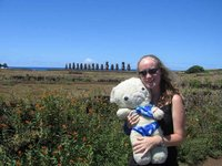 Me, Ted and some Moai