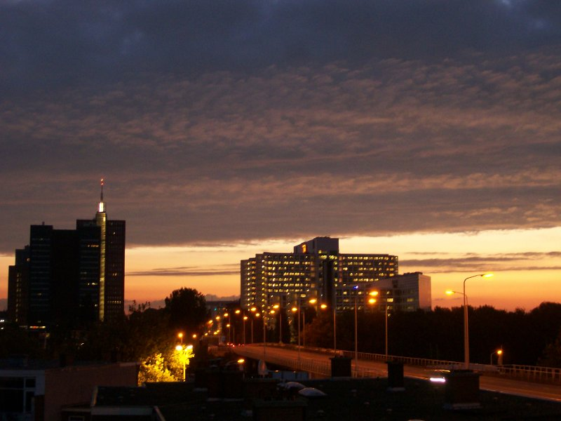 Den Haag sunrise from my bedroom