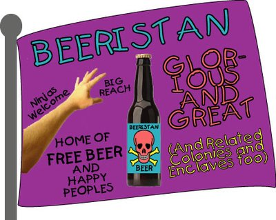 Flag of Glorious & Great Beeristan Independent Nation