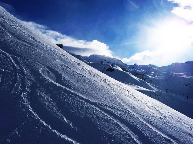 Beautiful powdery snow