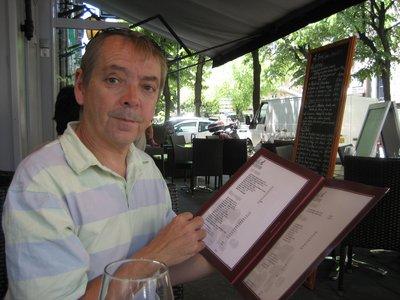 Orlando having lunch in Grenoble