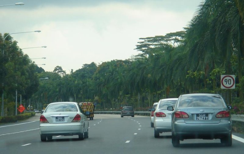 Highway entering Singapore